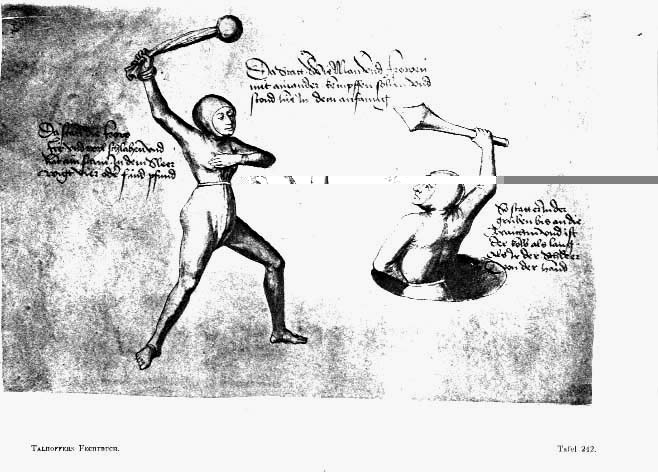 Illustration from a 1459 fencing manual. Credit: Talhoffer Fechtbuch / MS Thott.290.2º