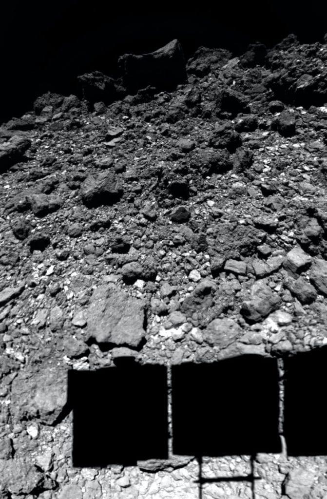 The surface of asteroid Ryugu photographed right before the actual landing and extraction of soil samples. Credit: JAXA/U. Tokyo/Kochi U./Rikkyo U./Nagoya U./Chiba Inst. Tech./Meiji U./U. Aizu/AIST, CC BY-SA