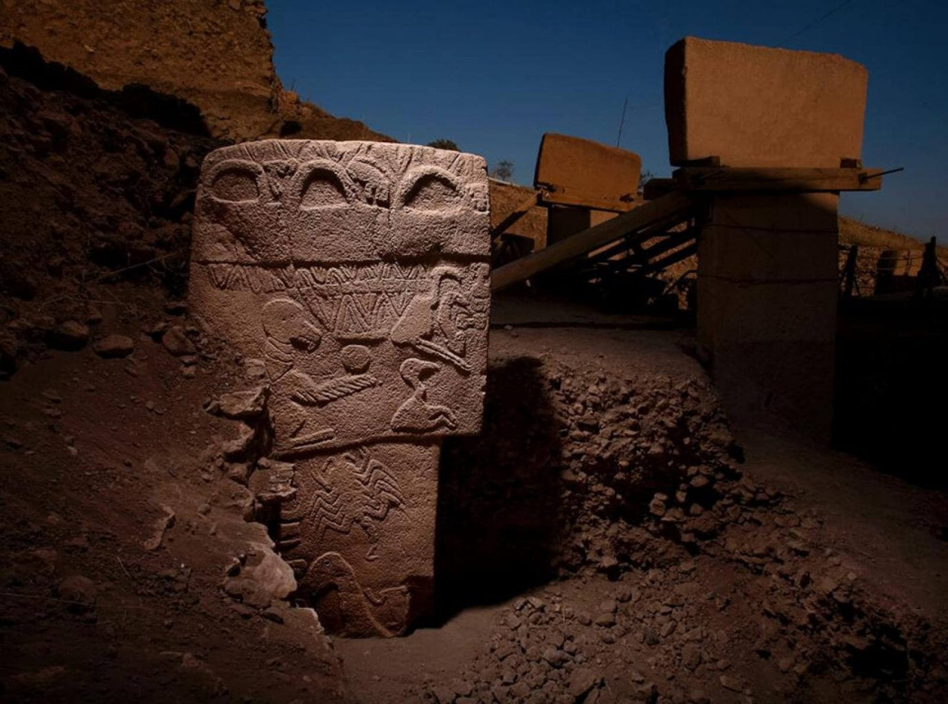 The Vulture Stone of Gobekli Tepe. Credit: The Human Origin Project