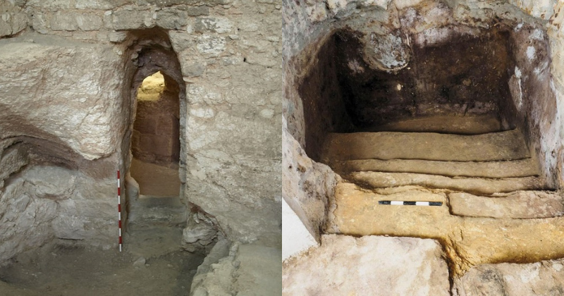 Photographs from the alleged childhood home of Jesus Christ. Credit: K.R. DARK