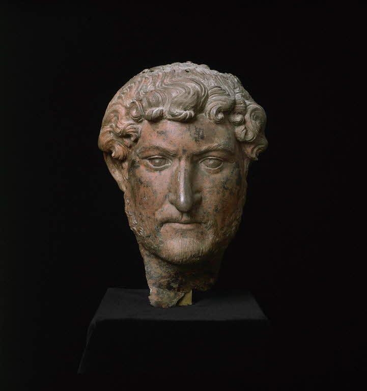 Bronze Bust of Emperor Hadrian. Credit: Musee du Louvre