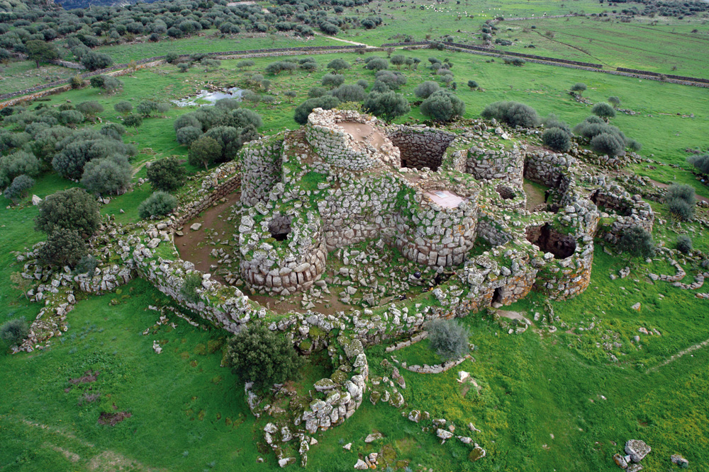 One of the most famous remains of Nuraghe towers. You can see the visual reconstruction image at the top of the article. Credit: Wonderful Sardinia