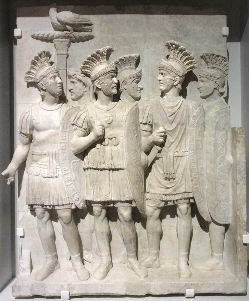 Ancient Relief of the Praetorian Guard. Credit: Musee du Louvre