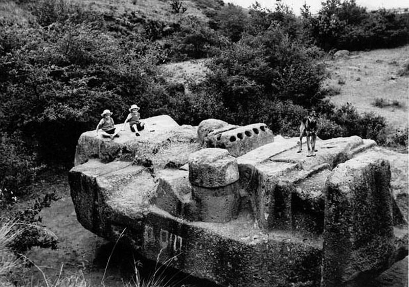 Here is how the massive Monolith of Tlaloc looked when it was excavated. Credit: Mexicolour.co.uk