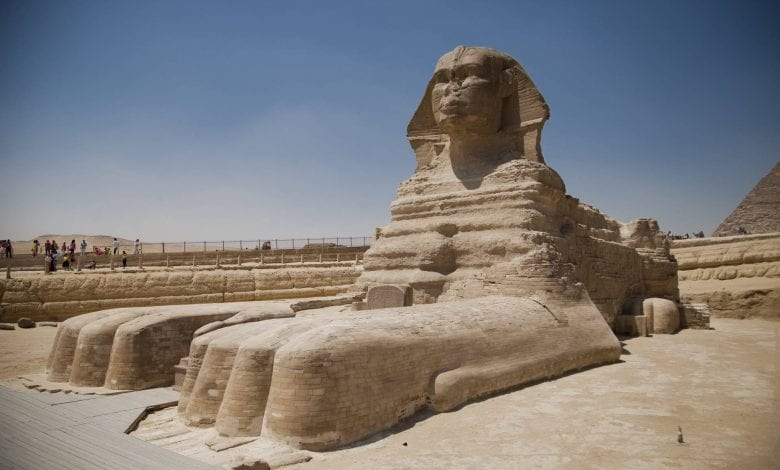 The Egyptian Sphinx is perhaps the largest statue missing a nose. Experts theorize that Egyptians deliberately broke the noses of pharaoh statues. Learn why below. Credit: Shutterstock