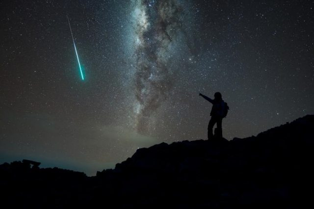 A lovely enhanced photograph caught during a meteor shower. You will have this chance tonight during the meteor shower astronomical event of November. Credit: Shutterstock