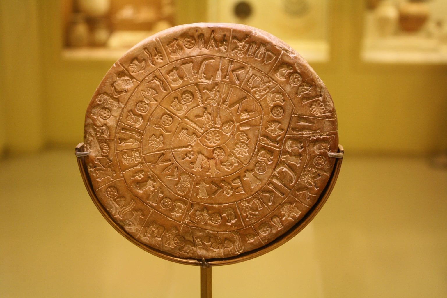 Side A of the famous Phaistos Disc. Credit: Ancient.eu