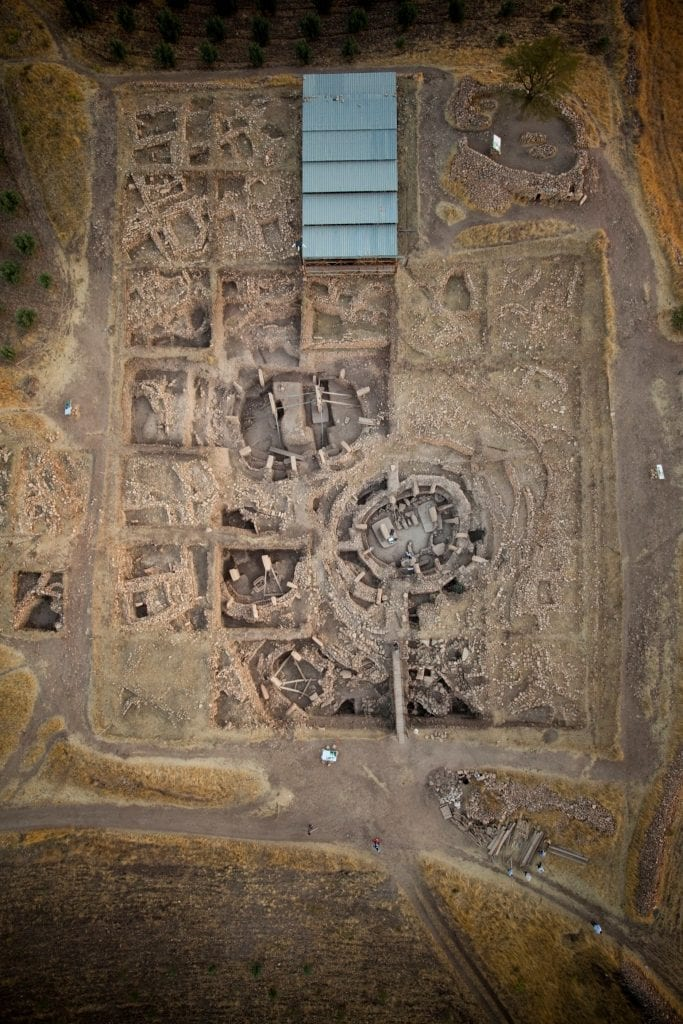 Aerial view of Gobekli Tepe, main excavation area. Credit: UNESCO