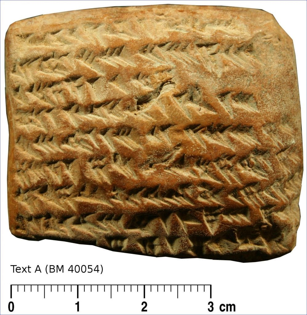 Text A of the five Babylonian tablets. Credit: Mathieu Ossendrijver/Trustees of the British Museum