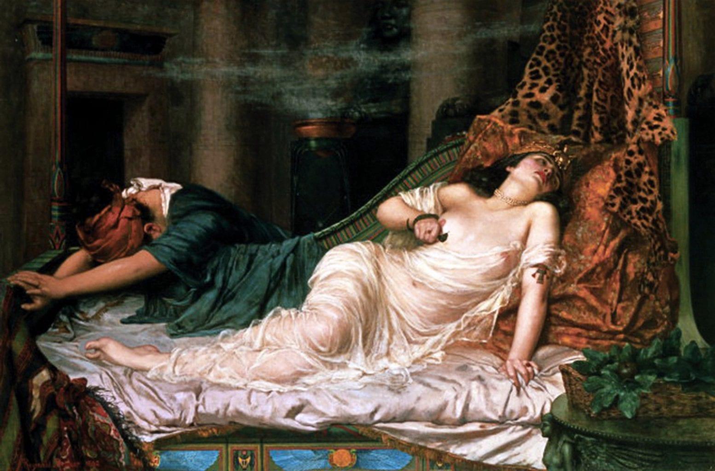 The Death of Cleopatra, oil on canvas, by Reginald Arthur. Credit: Artnet
