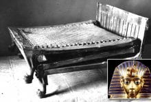 Tutankhamun's camp bed is one of the most curious artifacts discovered in his tomb. Credit: Daily Mail