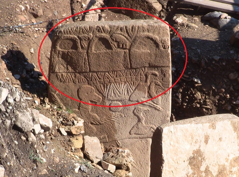 Once again, the bag of the Gods depicted on the most famous megalith in Gobekli Tepe - the Vulture Stone.
