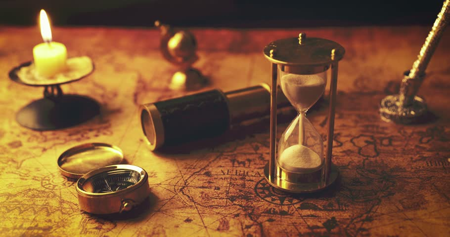 Contrary to popular belief, the hourglass was not invented and known in the ancient world. Credit: Shutterstock