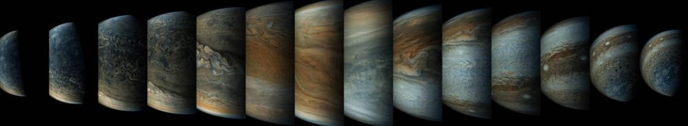 A sequence of enhanced-color images. Credit: NASA/Juno Image Gallery