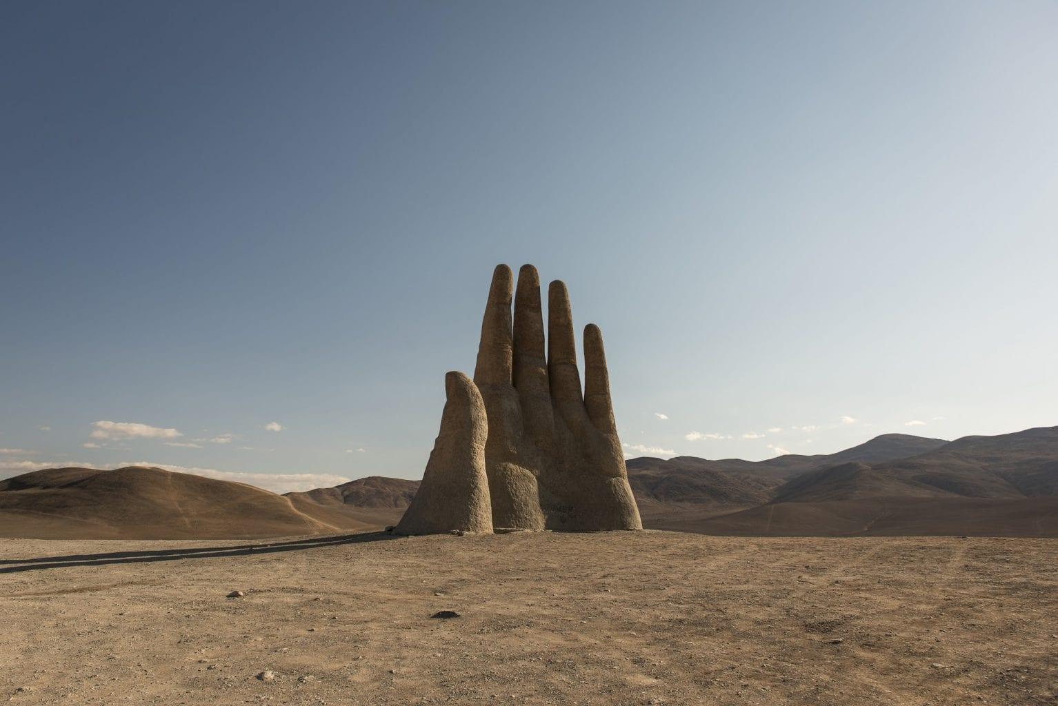 Mano del Desierto in the middle of the Atacama desert. Credit: CNN