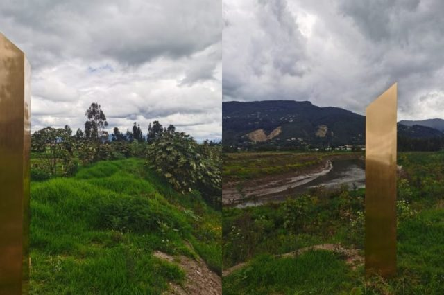 The latest monolith is golden and is located in Colombia. Credit: NewsBeezer