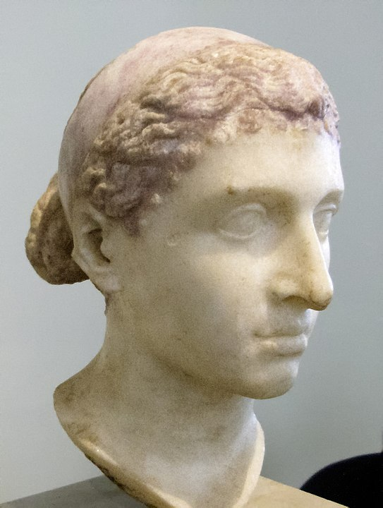 Ancient Roman marble sculpture of Cleopatra VII. Source: Wikimedia Commons