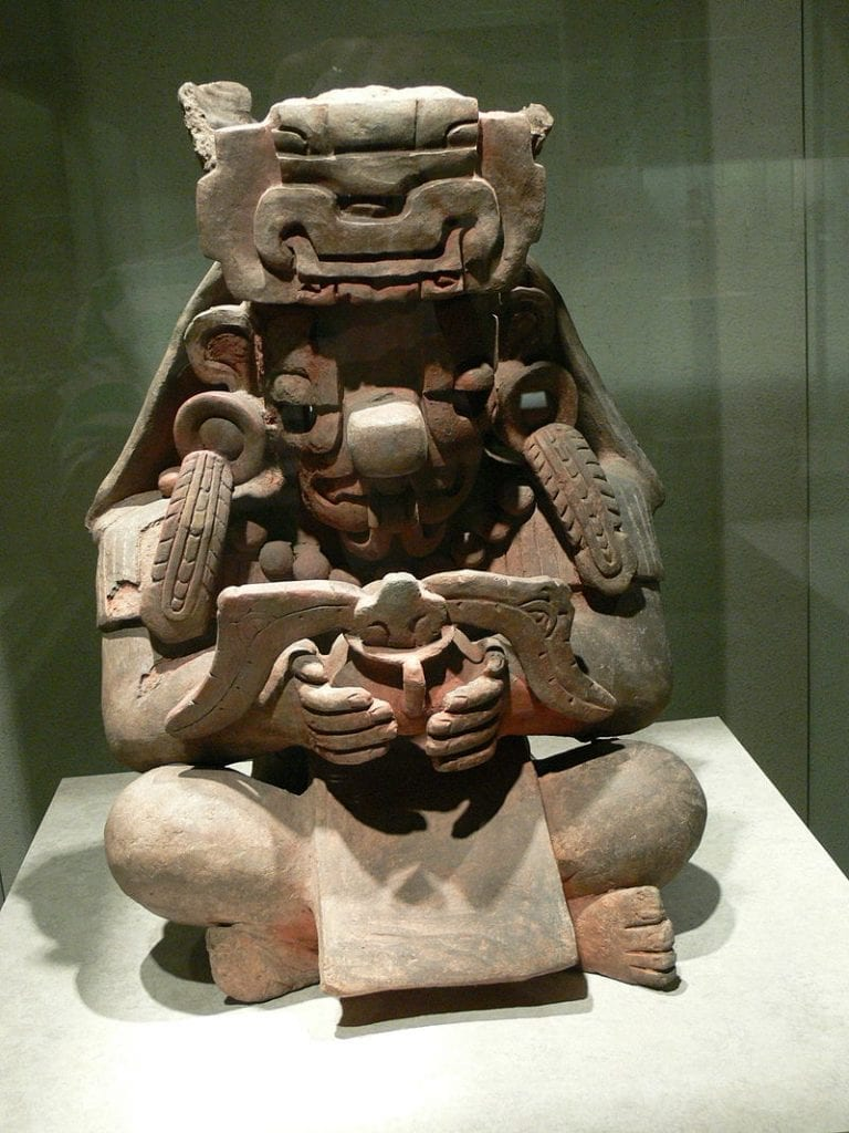 This representation of the Mesoamerican deity Cocijo was discovered in Monte Alban. Credit: Wikimedia Commons