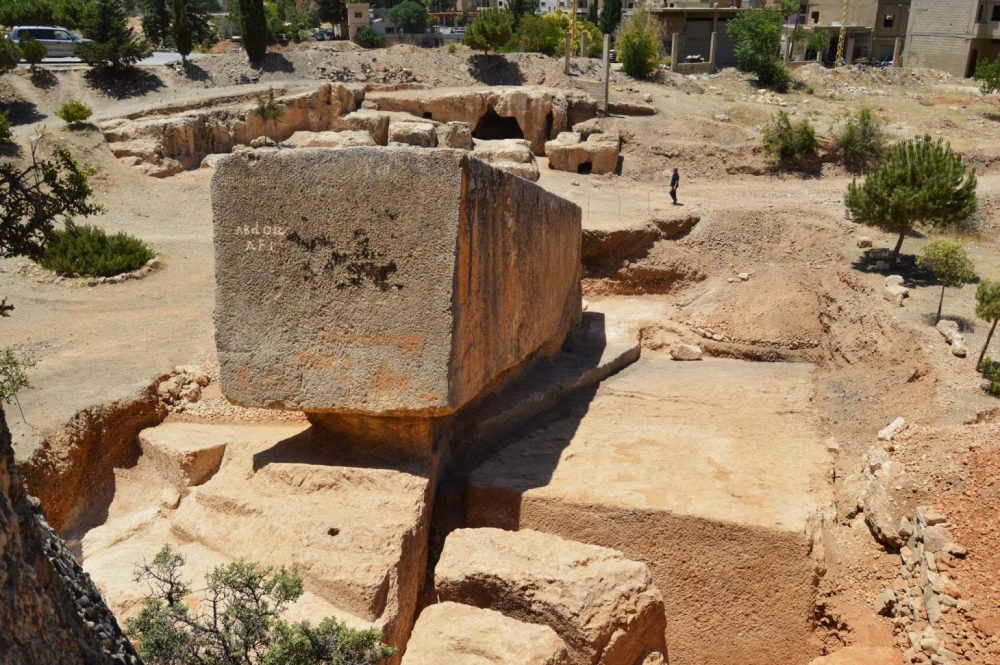 The largest stone block discovered in Baalbek - 1400 - 1650 tons in weight. Credit: J. Abdul Massih/ New Yorker