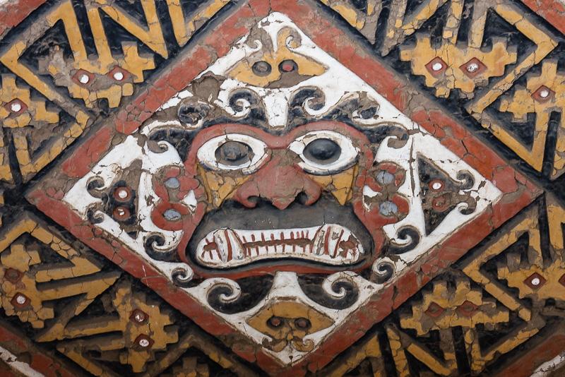 Mesoamerican deity Al Apaec depicted on the walls of a brick structure built by the Moche culture called Huaca De La Luna. Credit: Wikimedia Commons