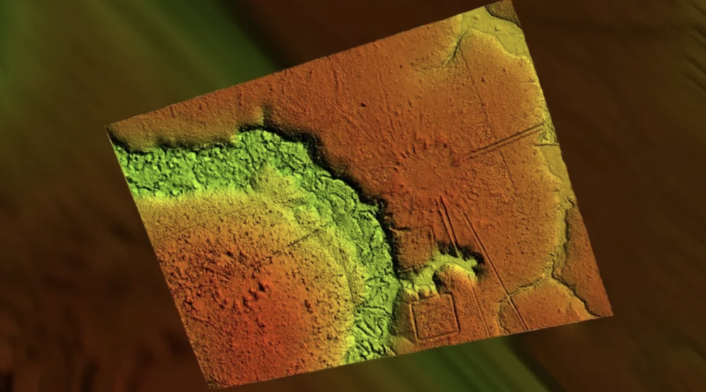 A LiDAR scan of the Amazonian village. Image Credit: J. Riarte / CAA.