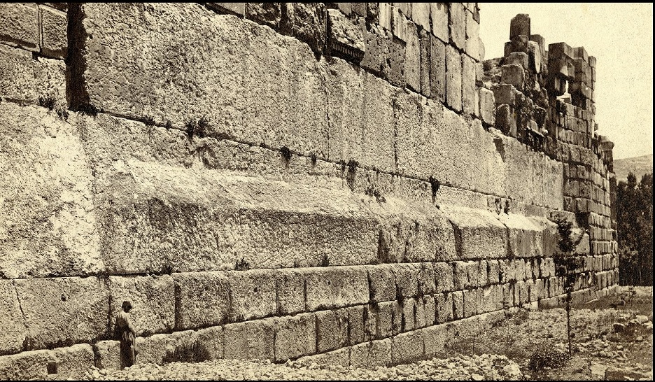 You can see the three large blocks of 800 tons that form the Trilithon in the middle. Credit: Hidden Inca Tours
