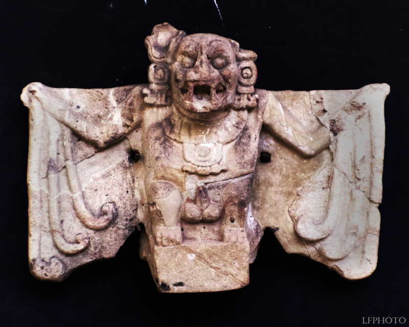 An ancient statue of the bat god. Credit: Twitter