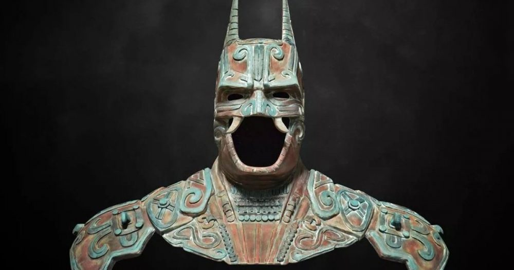 An artistic depiction of how the bat god Camazotz would have looked like together with some Batman details. Credit: 10News