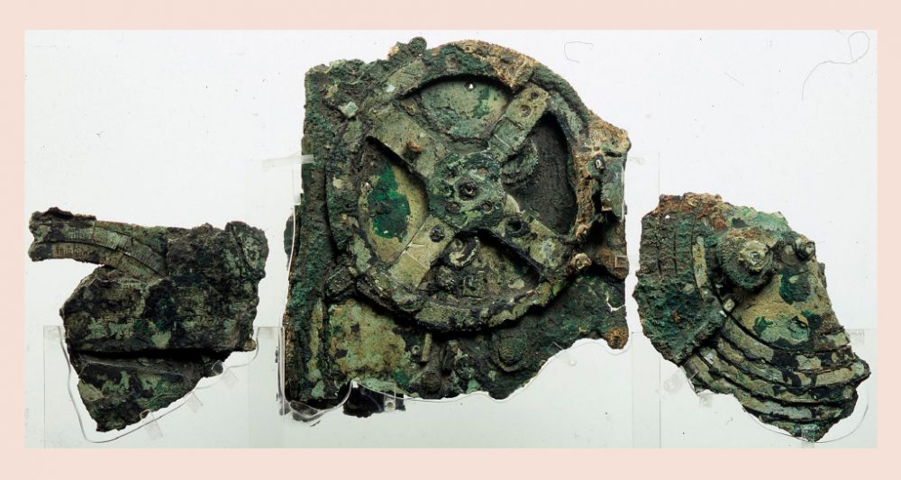 Fragments from the Antikythera Mechanism. Fragment C on the left is the one in question in this discovery. Credit: CACM