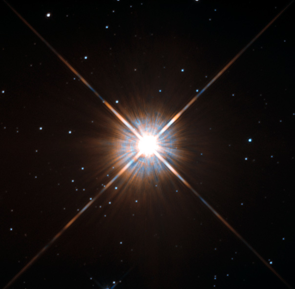 Proxima Centauri as seen from the Hubble Space Telescope. Credit: NASA