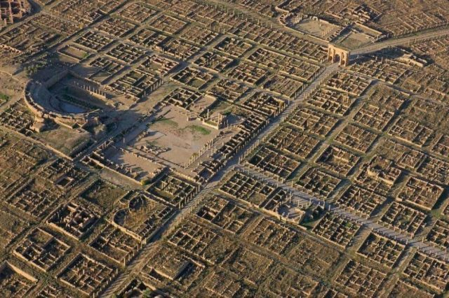 Perhaps one of the most beautiful ancient sites to see - the Roman City of Timgad. Credit: Open Culture