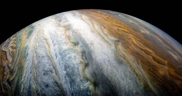 Colorful swirling cloud belts on Jupiter's southern hemisphere. Credit: NASA/Juno Image Gallery