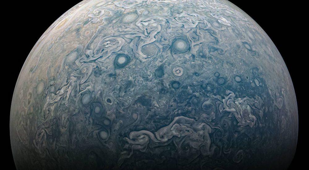 Jupiter's stormy northern hemisphere. Credit: NASA/Juno Image Gallery