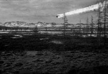 A visualization of the Tunguska Event supporting the version of a meteorite impact. Credit: Napalete.sk