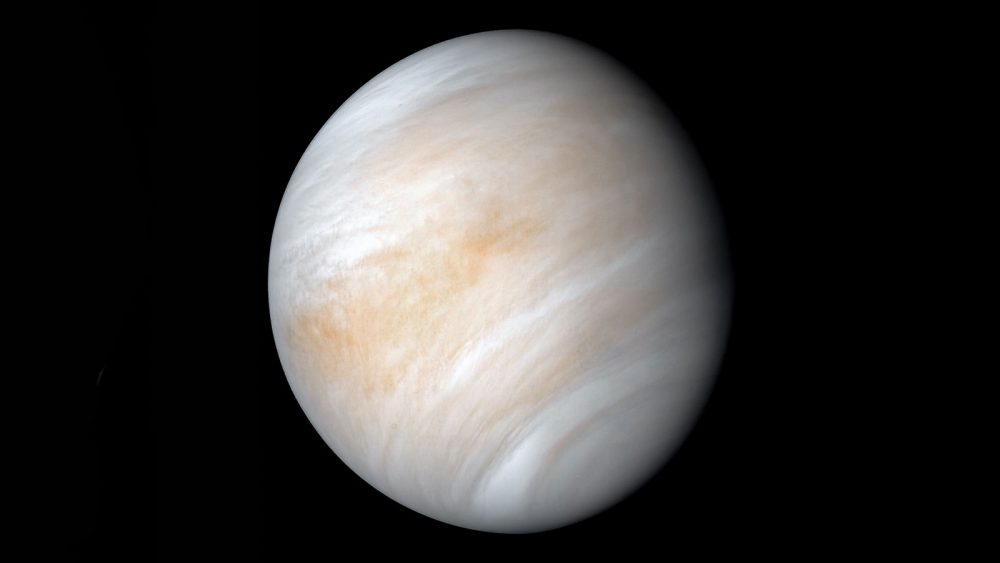 Newly-processed version of the old image of Venus from the 1974 Mariner 10 mission. The low number of images of Venus is surprising as well as our knowledge of the planet itself. Will the long-lasting mysteries like whether there is lightning on Venus be solved soon? Credit: NASA/JPL-Caltech