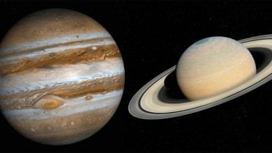 Saturn and Jupiter will align in the closest Great Conjunction since the Middle Ages. Credit: CBS