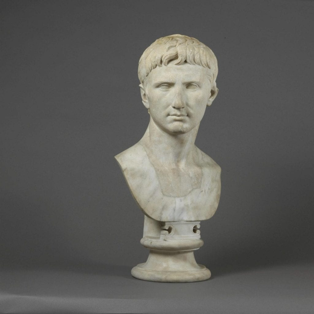 Marble bust portrait of Octavian, now kept in the British Museum. Credit: British Museum
