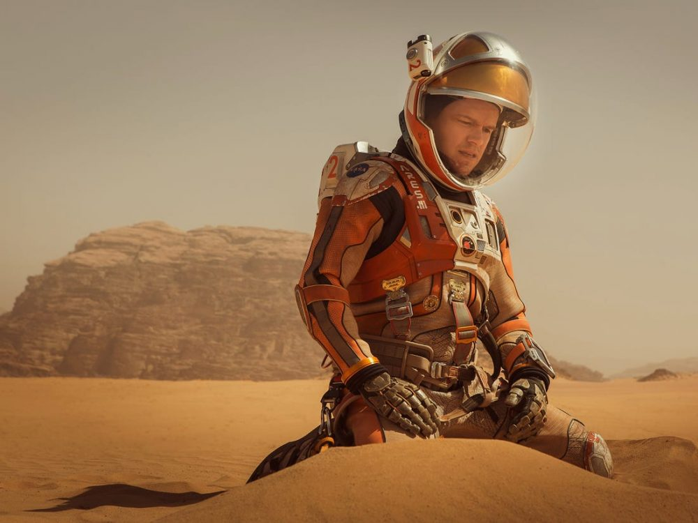 The Martian is a movie that could easily be considered a prediction if we believe that humans will reach Mars soon. Credit: Business Insider