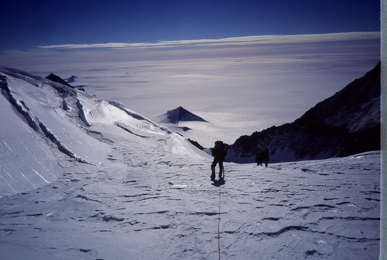 The most famous of the alleged pyramids in Antarctica photographed during one of the expeditions. Credit: Mountainguides.com
