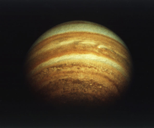 An image of Jupiter made by Pioneer 11 in 1974. Credit: NASA Ames