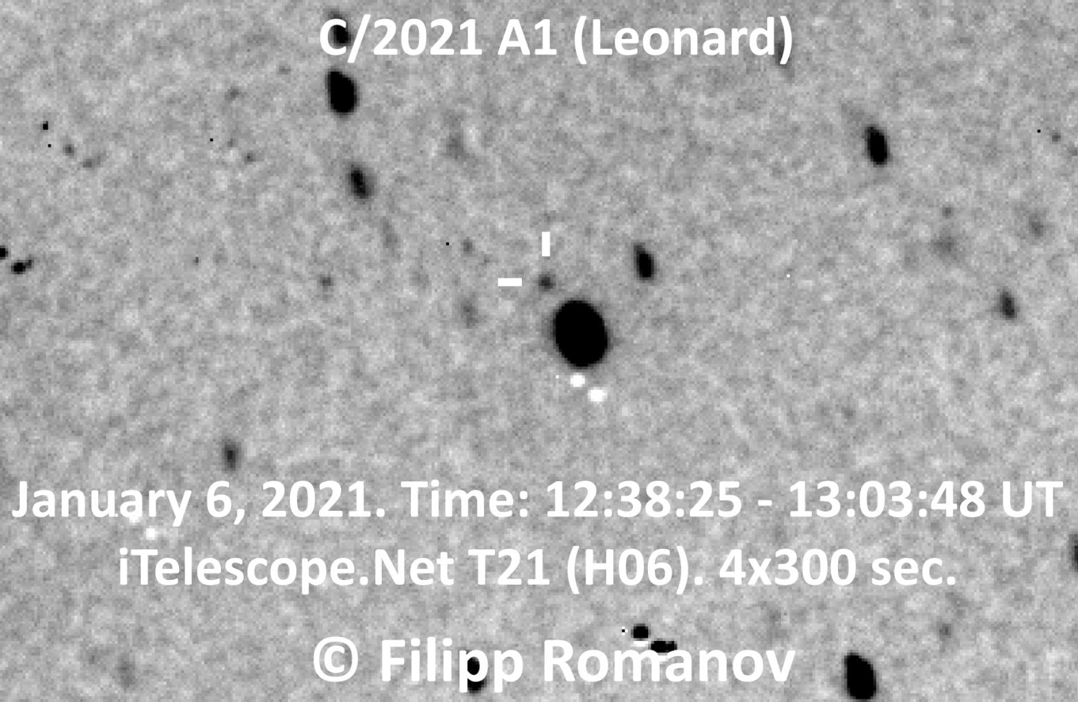 Currently, the comet looks like nothing more than a small dot in the sky. In December, we will likely be able to see it with the naked eye. Credit: Filipp Romanov