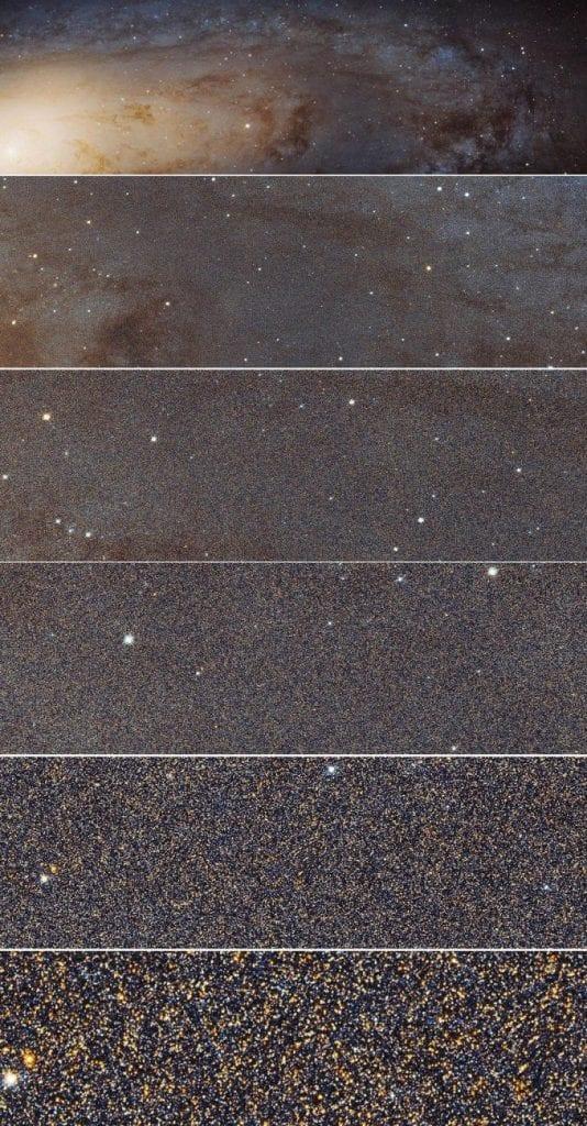 Here are several close ups from the massive 1.5 billion-pixel mosaic of the Andromeda Galaxy. Credit: NASA, ESA, J. Dalcanton, B.F. Williams and L.C. Johnson (University of Washington), the PHAT team and R. Gendler