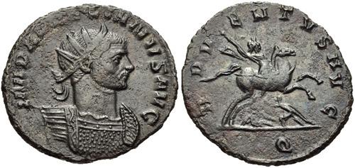 Coin of Roman Emperor Aurelian. Credit: Ancient-Roman-Coin