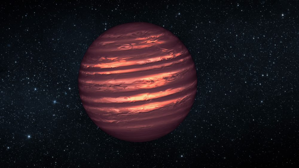 Since there are no real close images of brown dwarfs yet, this is the closest artist's concept. Credit: NASA/ESA/JPL