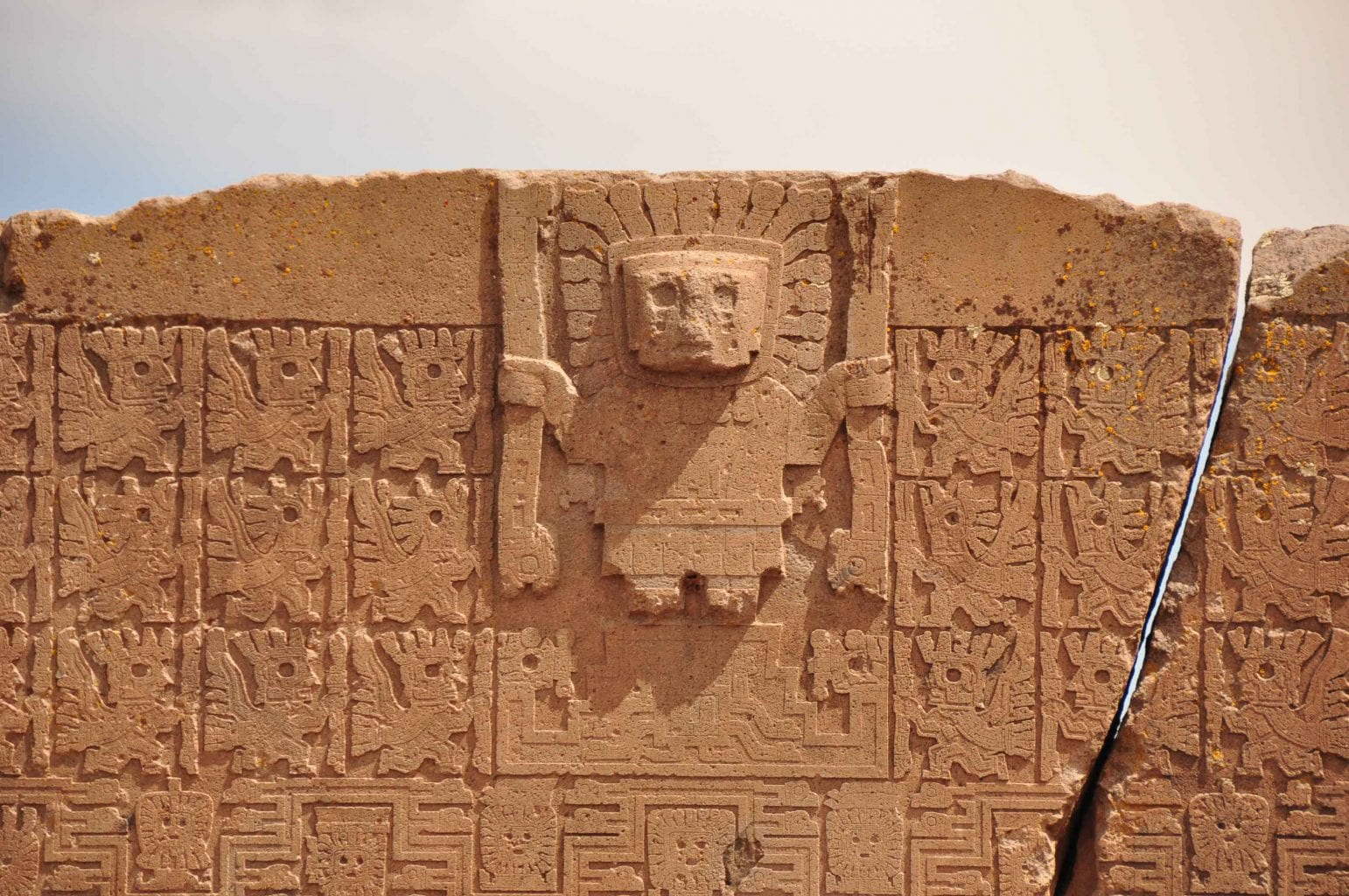This is a representation of Viracocha from the site of Tiahuanaco in Bolivia. Although it it not an Inca creation but one of the Tiwanaku culture, it proves how significant Viracocha was for this entire Andean region. Credit: Melting Plots