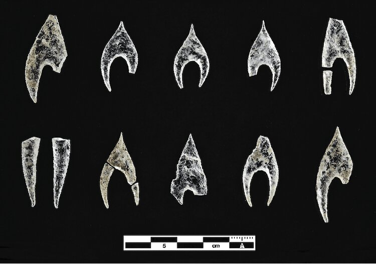 Archaeologist discovered a variety of arrowheads at the Montelirio Tholos site. Credit: Miguel Angel Blanco de la Rubia