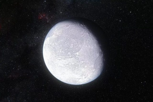 Artist's impression of how the dwarf planet Eris may look like. Credit: ESO/L. Calçada