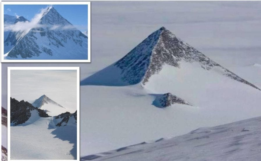Are the alleged pyramids in Antarctica man-made or entirely natural formations? Credit: Egyptian Geographic
