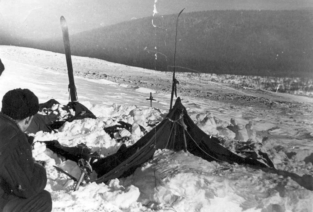 Real image from over 60 years ago taken during the search for the missing tourists who perished in the Dyatlov Pass incident. Credit: Uraloved.ru
