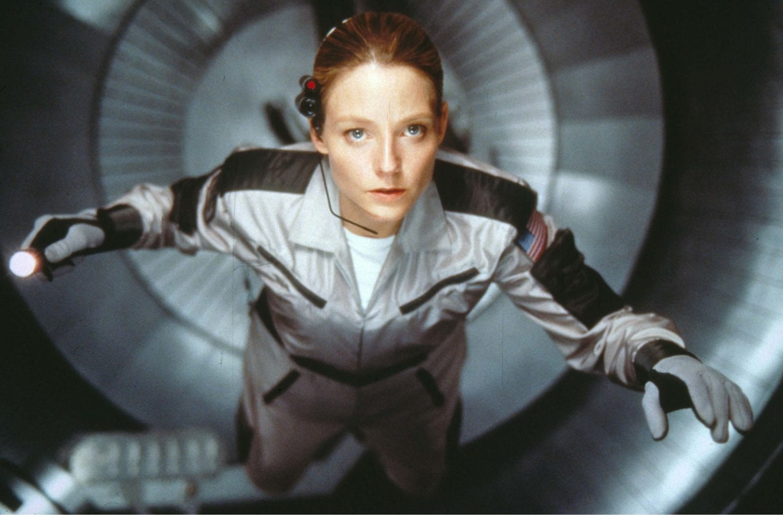 Jodie Foster in the incredible space-themed movie Contact. Credit: Warner Bros